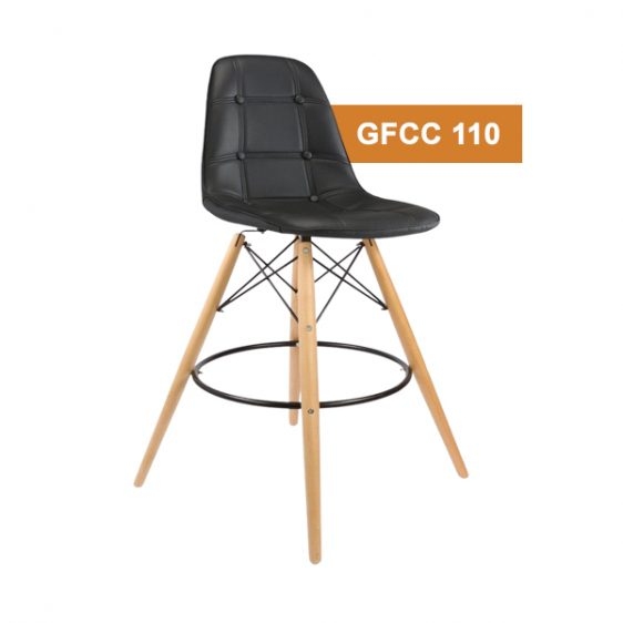 Black Button Cafe Chair