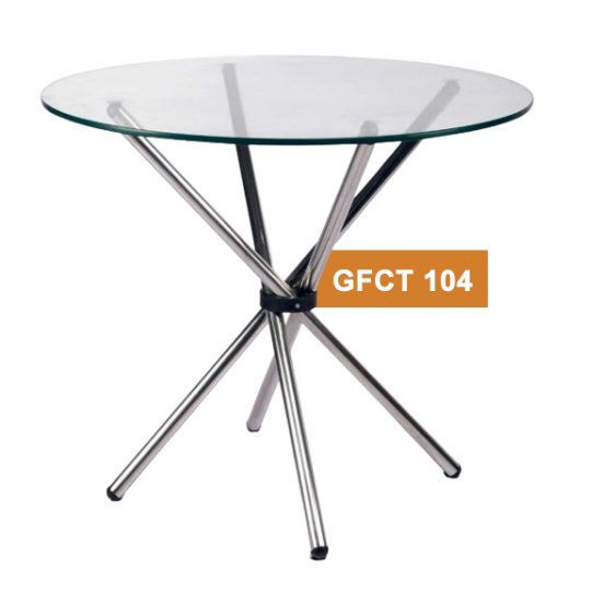 Glass Round Cafe Table