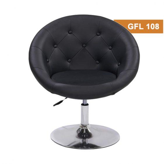 Black Button Lounge Chair