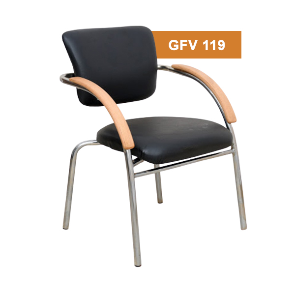 Black Visitor Fixed Chair