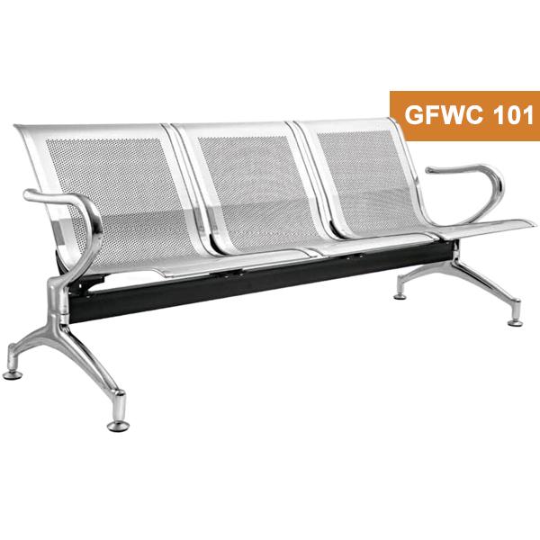 Three Seater Chrome Waiting Chair