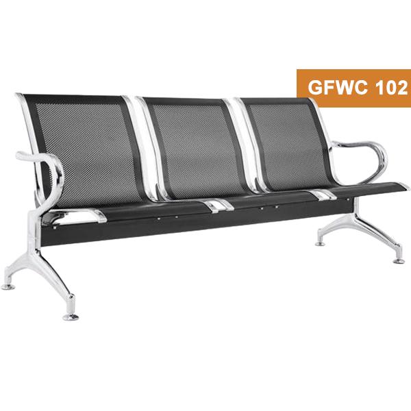 Chrome Powder Coating Waiting Chair